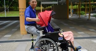 Genius retired ITE lecturer reinvents unicycle-wheelchair into duo-seat e-ride to ferry wife
