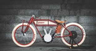 the kosynier boardtrack hides an ebike inside a 1920s motorcycle